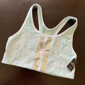 PINK Victoria's Secret mint gold foil sports bra